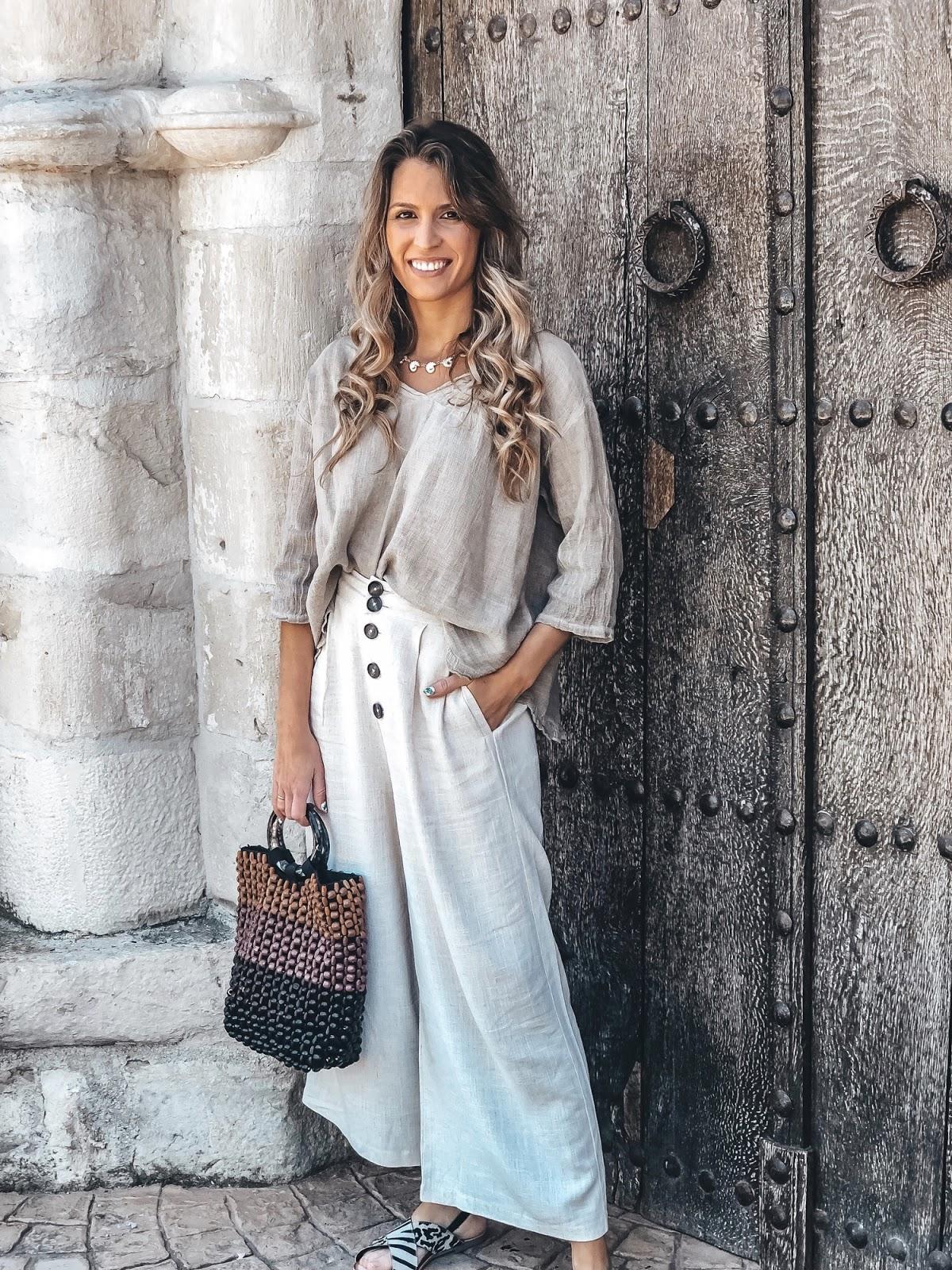 blusa d lino color tierra