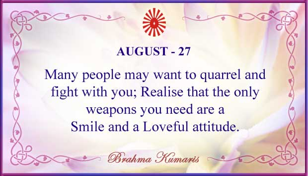 Thought For The Day August 27