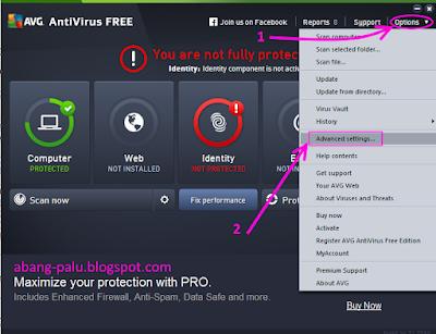 cara agar avg tidak update otomatis