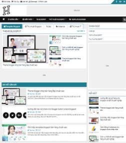 Theme blogspot tin tức cá nhân đẹp