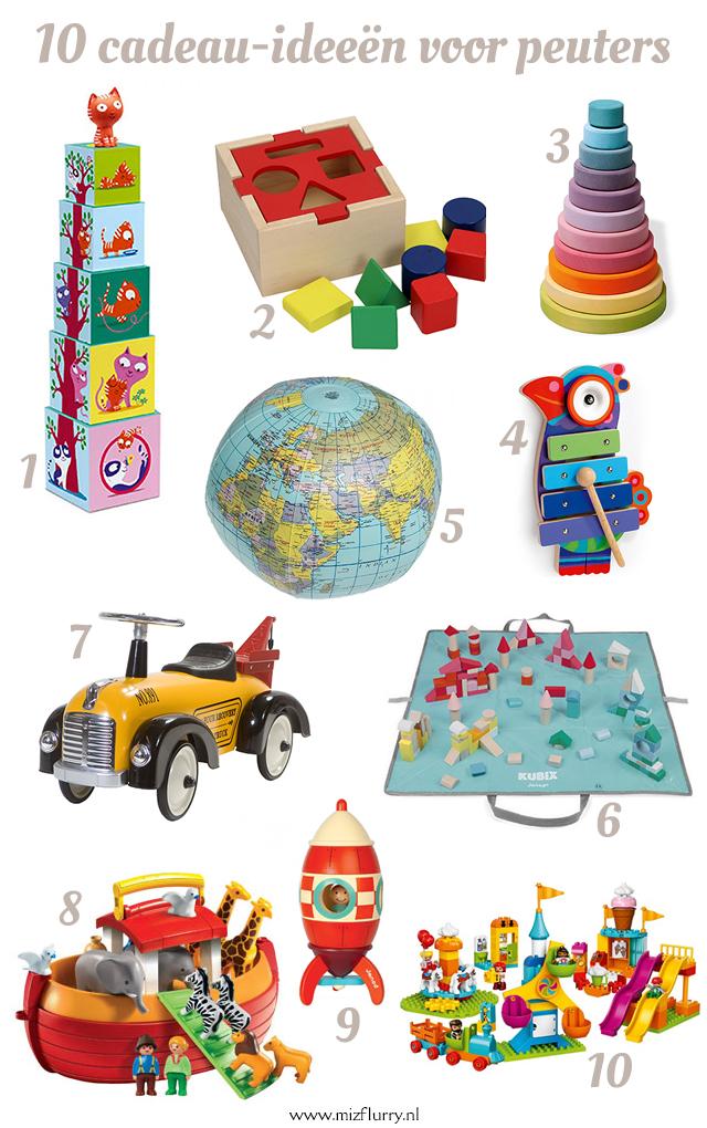 Cadeautips voor baby's, peuters en kleuters, bijvoorbeeld voor Sinterklaas, Kerst of verjaardag.