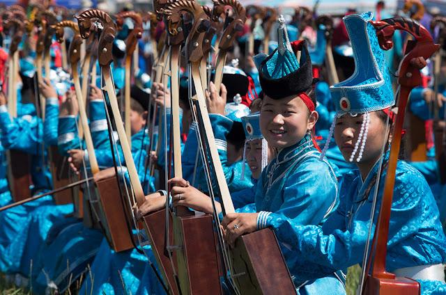 Opening ceremony at the Bulgan Naadam.