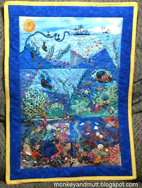 Hand Stitched Treasure: CQI Under the Sea Round Robin 2015 Quilt ... : under the sea quilt - Adamdwight.com