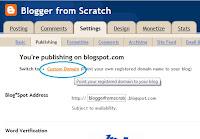 setup custom domain in blogger blogspot
