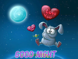 Good night I love you text with full moon Wallpaper