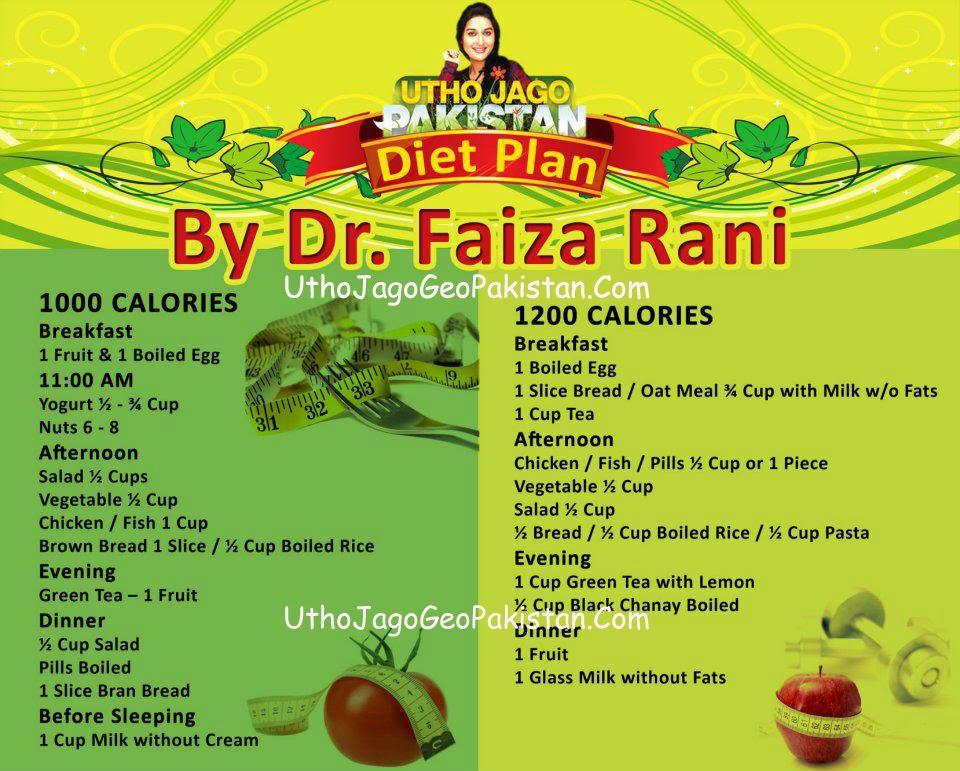 1200 calorie pakistani diet plan