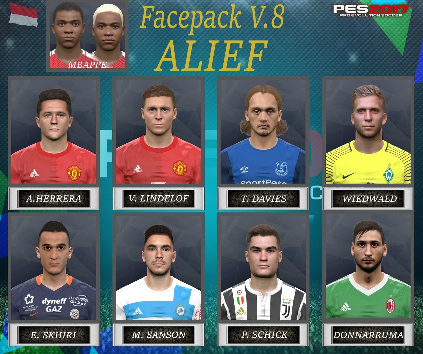 PES 2017 Facepack v. 8 by Alief