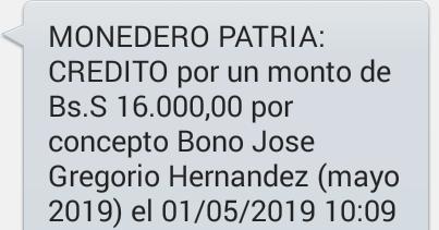 Aviso Oficial Pago Bono José Gregorio Hernández Mayo 2019 ( personas con discapacidad)