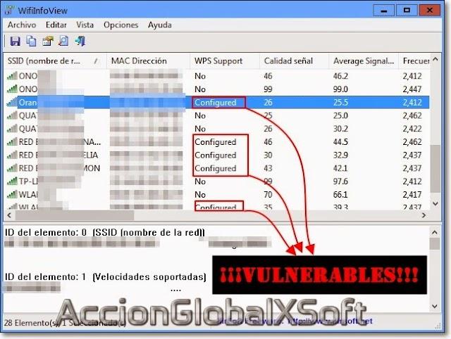 WifiInfoView 2.66 - Ver desde Windows que redes tienen WPS activado (vulnerables) y mucha más información