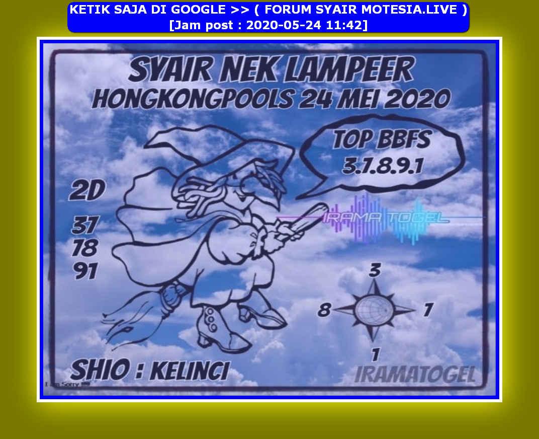 Kode syair Hongkong Minggu 24 Mei 2020 196