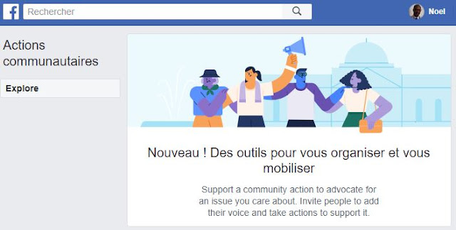 Facebook lance Actions Communautaires