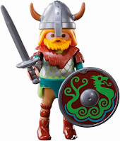 Speaking of Playmobil, keep an eye out for this Viking warrior from the Playmobil Series 5 mystery figures set. We haven't found him yet, but we're looking!