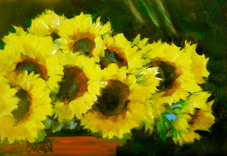 sunflowers+oil+painting