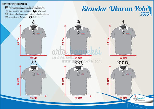 standar ukuran polo