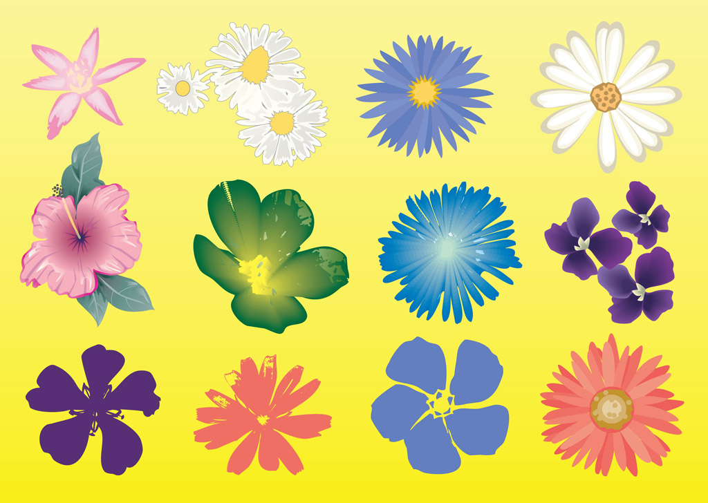 vector clipart flowers - photo #30