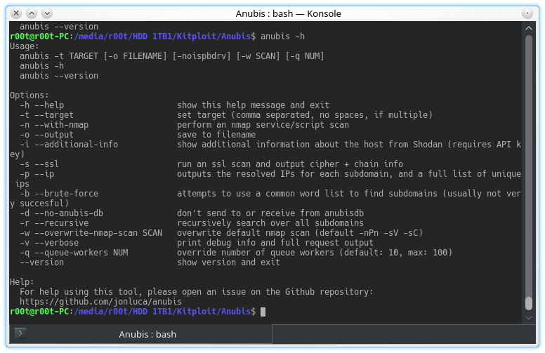 Anubis - Subdomain Enumeration And Information Gathering Tool