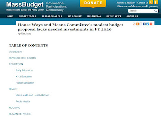 MassBudget: HWM Committee's modest budget proposal lacks needed investments in FY 2020