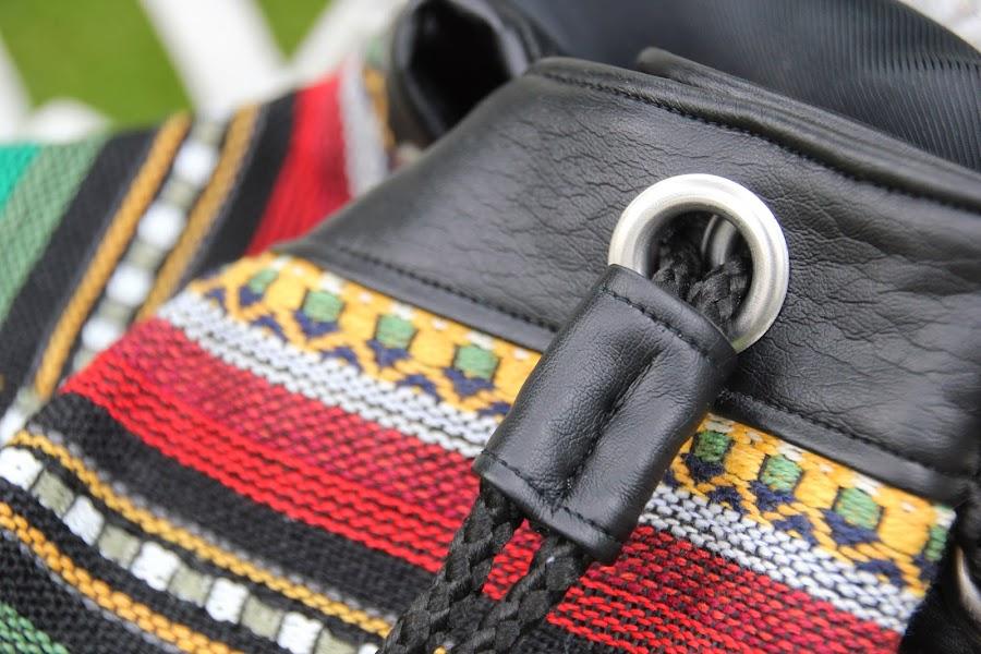 DIY Cómo hacer un bolso Mochila tipo étnico. Blog de costura y blog diy.