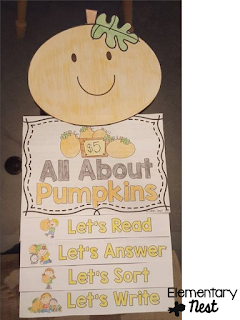 pumpkin flip book with reading and comprehension activities- October Activities for a primary classroom- PLUS a freebie!
