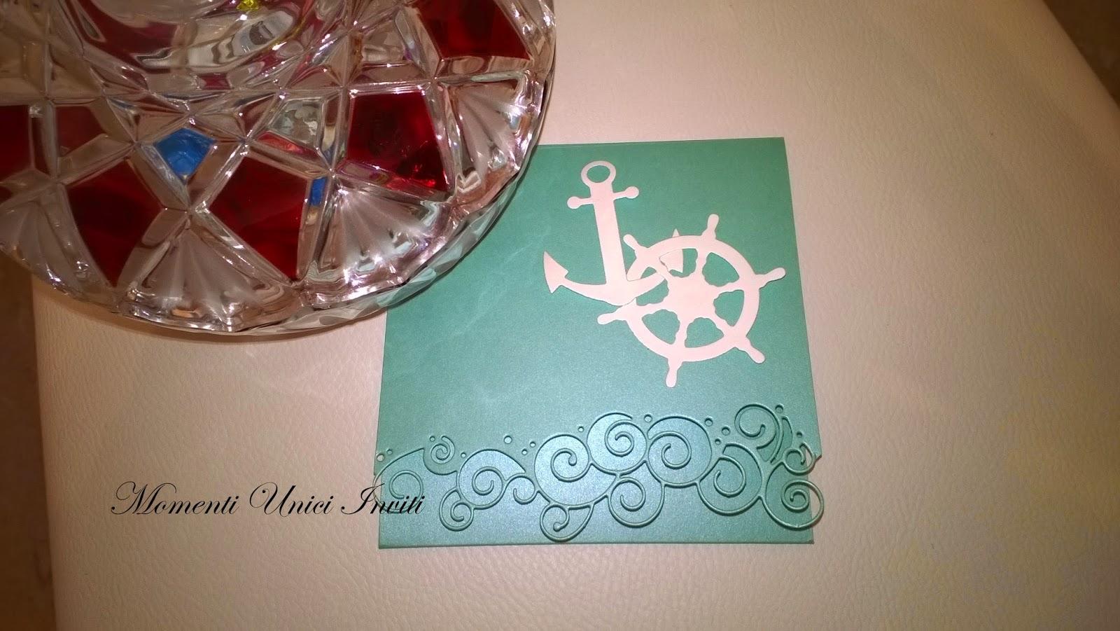 2 Partecipazione pocket Tiffany tema mareColore Tiffany Tema mare