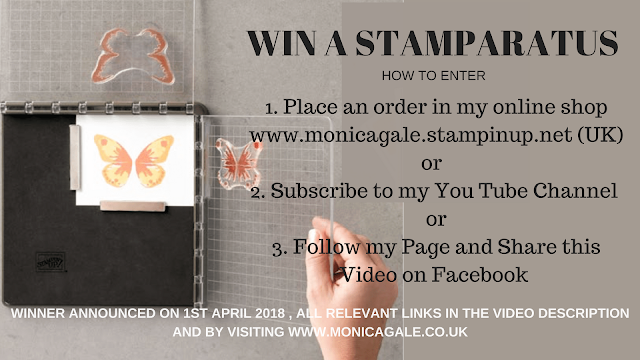 WIN A Stampin Up STAMPARATUS !!!