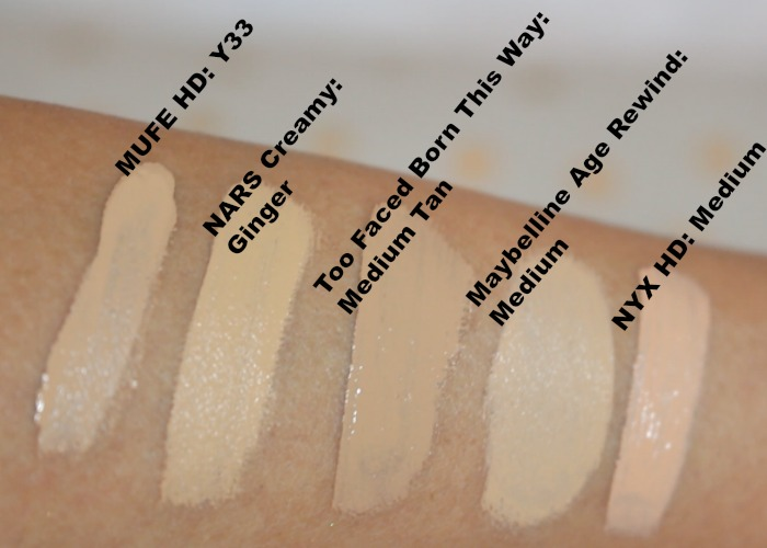 too faced born this way concealer swatches review samantha jane