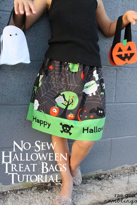 no sew Halloween treat bag tutorial