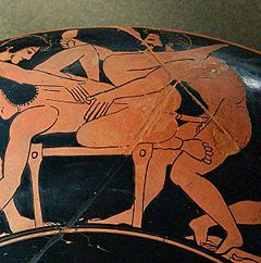 Vaso griego, sexo anal
