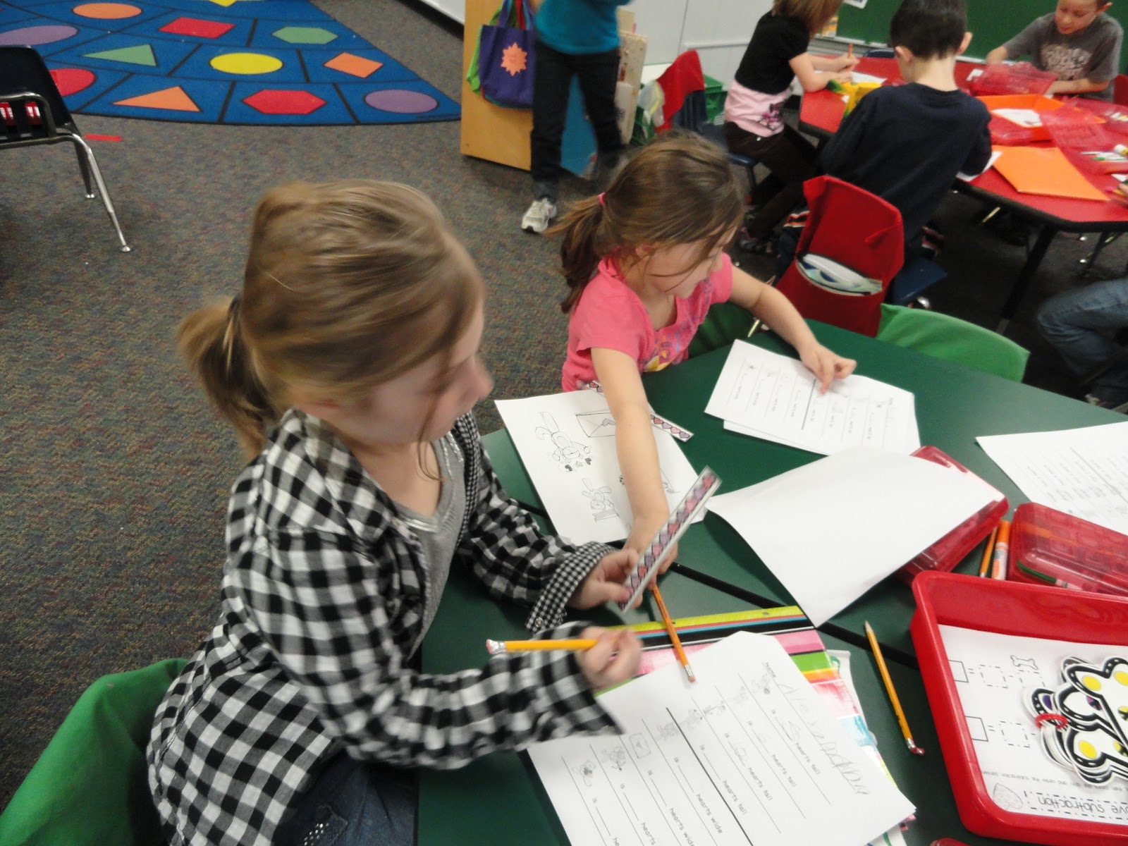 Busy Bees Heart Measurement Abe Lincoln Project And