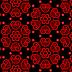 Wallpaper met rode liefdes hartjes patroon
