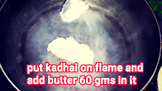 image of adding butter in kadhai