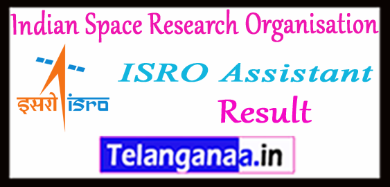 ISRO Indian Space Research Organisation Assistant UDC Result 2017 Merit List