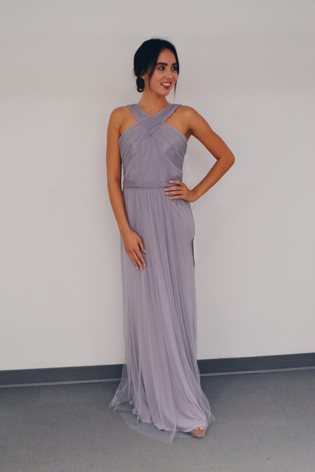 Sorella Vita style 8828 criss-cross strap bridesmaid dress