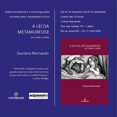 Lançamento de livro de Gustavo Bernardo
