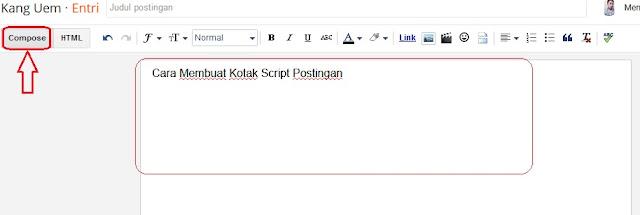 Cara Mudah Membuat Kotak Script Pada Postingan Blog
