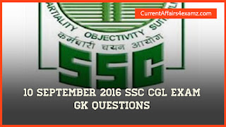 SSC CGL Exam 10 September 2016