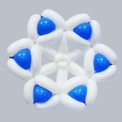 Снежинки из воздушных шаров видео-инструкции по изготовлению