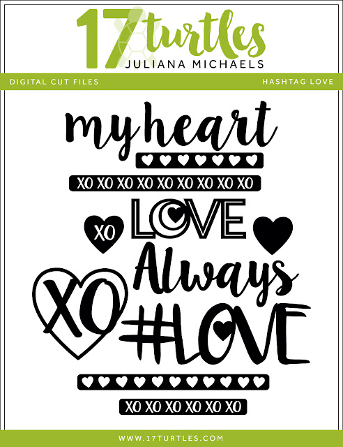 Hashtag Love Free Digital Cut by Juliana Michaels