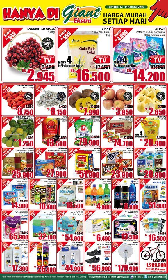 Promo Jsm Giant 12 14 Agustus 2016 Katalog Harga Promo Terbaru