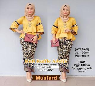 setelan baju batik muslim
