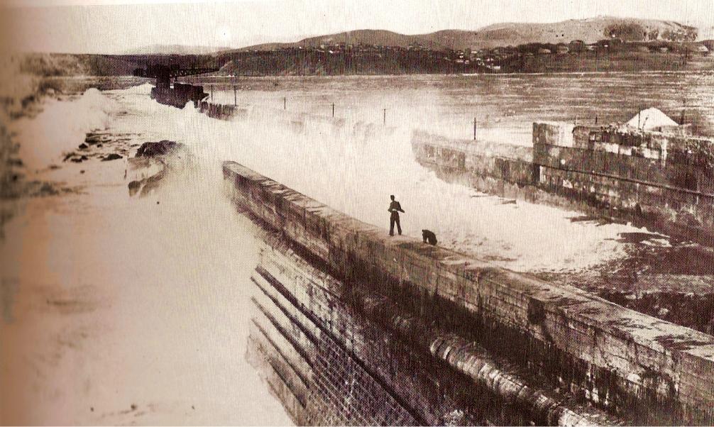 Rompeolas de Santurce a finales del siglo XIX.