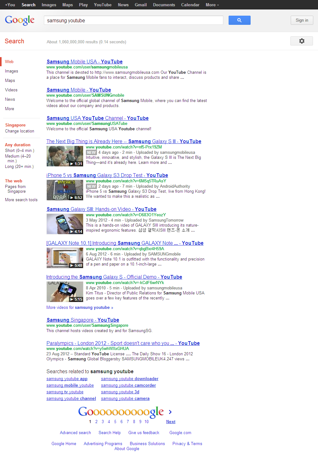 Google Youtube Music Key One Ups Streaming Music Services: Failed SERPs: Google's Entire SERP Has Only YouTube