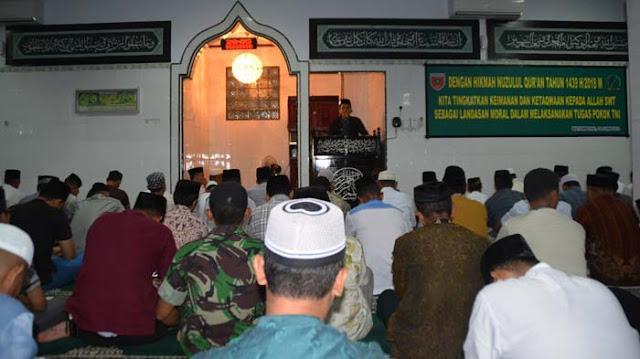 Korem 141 Toddopuli Peringati Nuzulul Qur,an