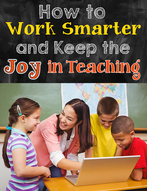 If teaching is consuming your life, you need to read this post. Finally, there are answers to the question of HOW teachers are supposed to work smarter (instead of harder) so they can keep the joy in teaching!