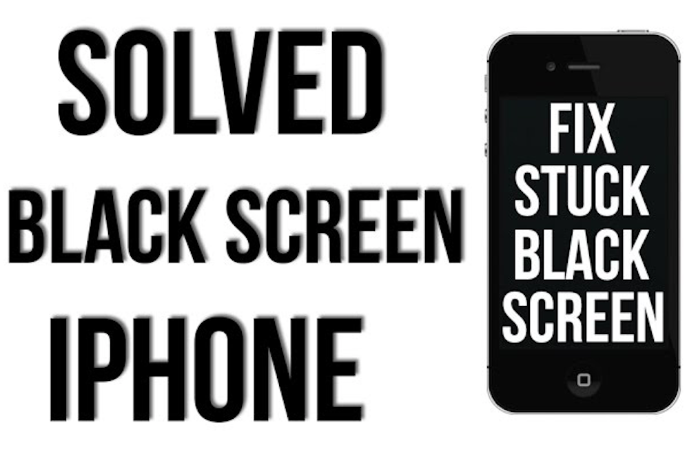 fix black screen iphone