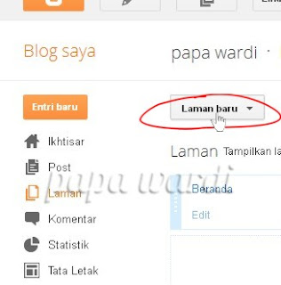 Laman Baru, Daftar isi blog sederhana