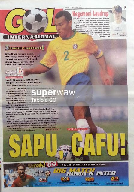 GOL INTERNASIONAL: SAPU CAFU!