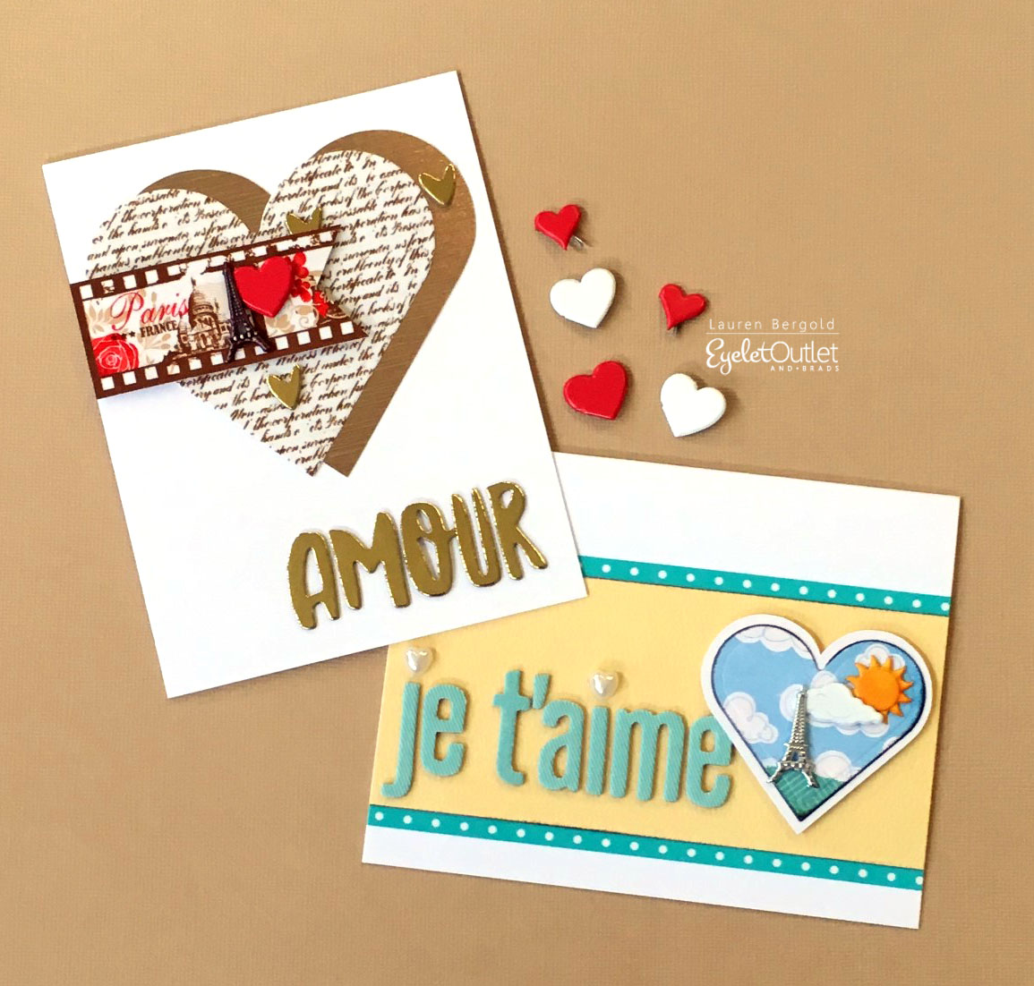 d963b76c63 Hi folks, it's Lauren again, here to show off a couple of Valentines with a  French accent!