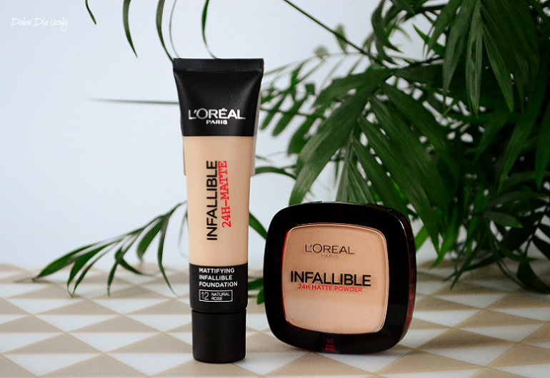 L'Oreal Paris Infallible 24H - Matte matujący podkład i puder matujący recenzja