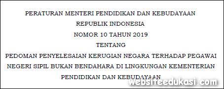 Permendikbud Nomor 10 Tahun 2019